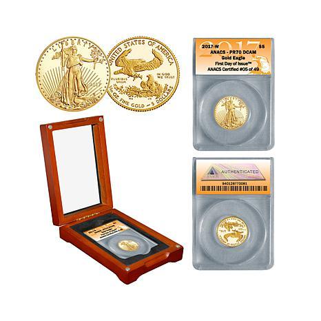 2017 PR70 FDOI Limited Edition $5 Gold Eagle Coin
