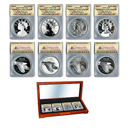 "2017 Set of 4 ""69"" FDOI LE 499 American Liberty Silver Medals"