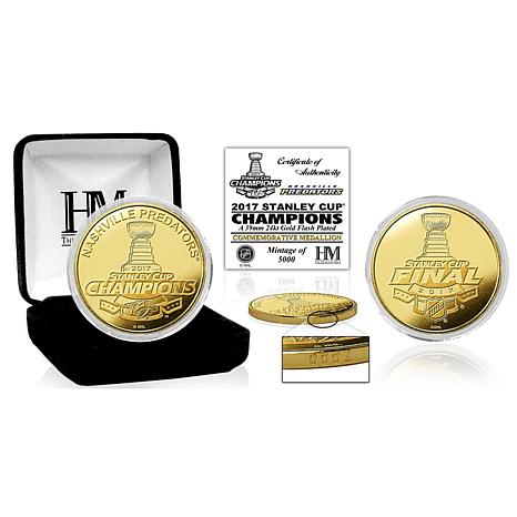 2017 Stanley Cup Champions Gold Mint Coin