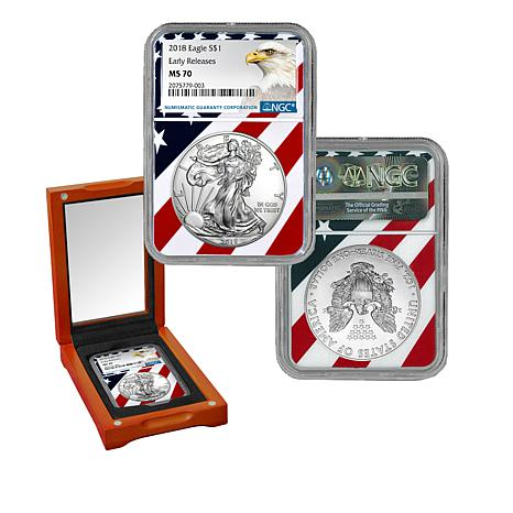 2018 1oz Silver American Eagle Ngc Ms70 Early Releases Liberty Coin Act Label Zoom