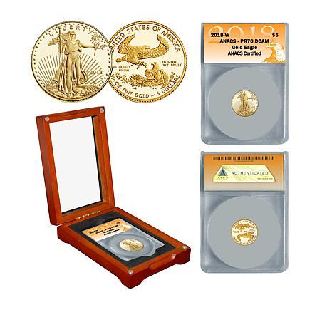 2018 PR70 ANACS $5 Gold Eagle Coin