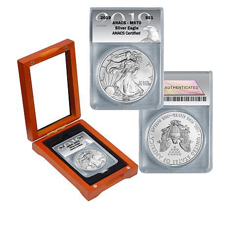 2019 MS70 ANACS Silver Eagle Dollar Coin