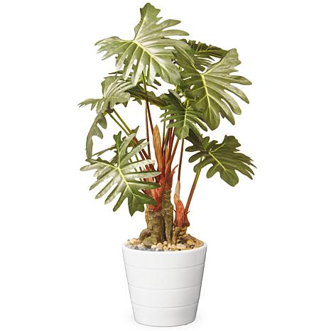 """21"""" Garden Accents Artificial Philodendron Flower"""
