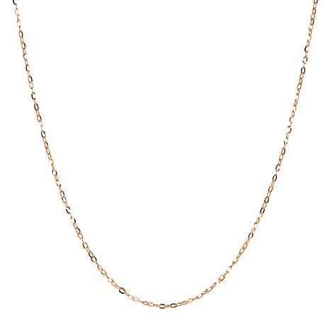 """30"""" 14K Gold Hammered Rolo Chain"""