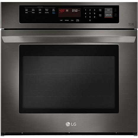 30 In. Single Wall Oven with True Convection- Black Stainless Steel