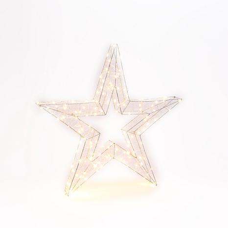 33-Inch High Electric Open Wire Star Ornament with Outdoor Adapter