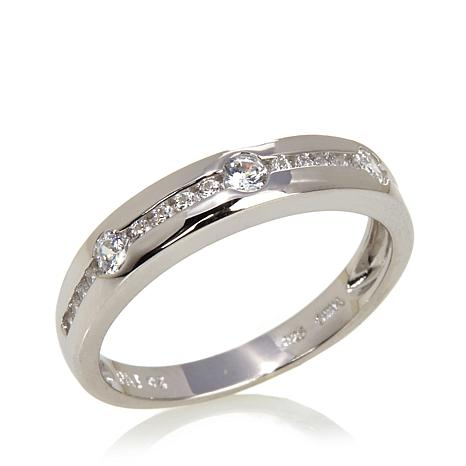 set rub ring eternity cut bands princess semi platinum over band full diamond