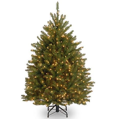 4-1/2' Dunhill Fir Hinged Tree w/Lights