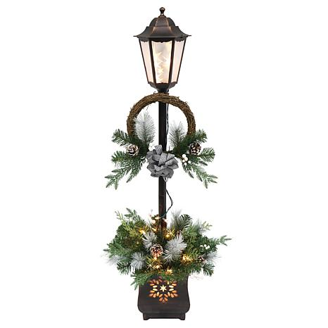 4' Christmas Lamp Post with 35 Multi Lights