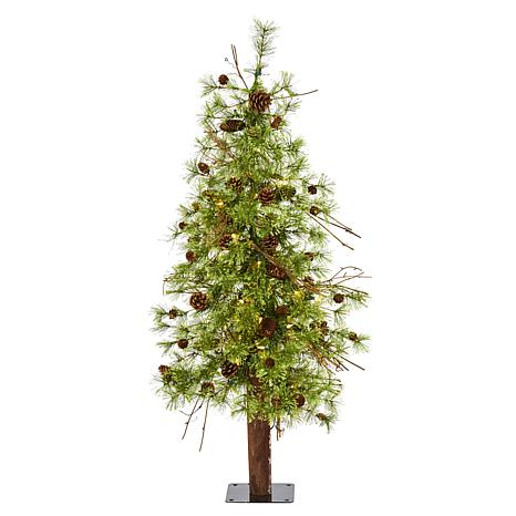 4' Wyoming Alpine Artificial Christmas Tree with 50 Clear multifunc...