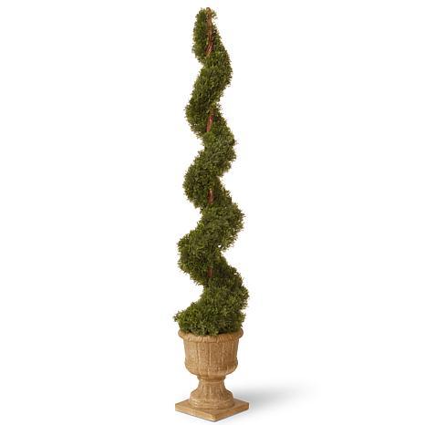 5' Artificial Topiary Cedar Spiral Tree