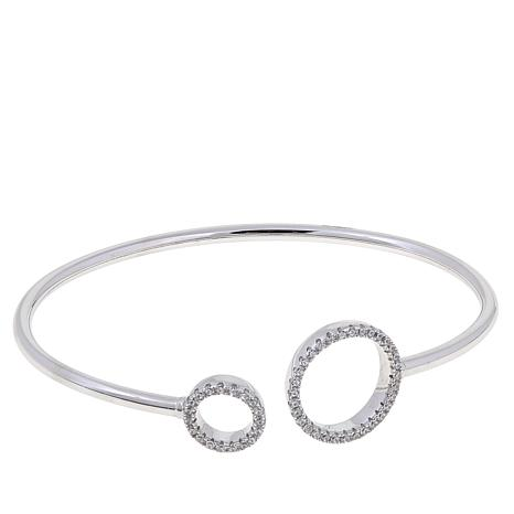 .63ctw Absolute™  Pavé Circle Wire Cuff Bracelet