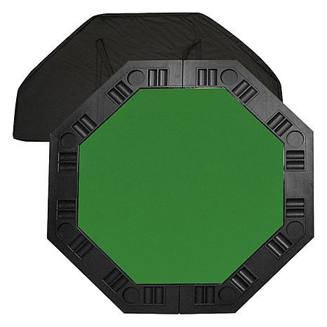"8-Player 48"" Octagonal Poker Tabletop - Green"