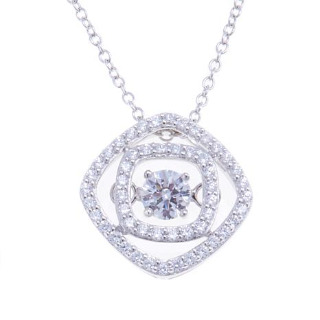 Absolute™ 1.02ctw CZ Dancing Pendant