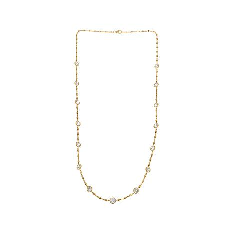 "Absolute™ 13.50ctw Round CZ 24"" Station Necklace"