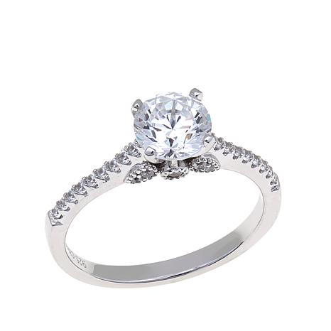 Absolute™ 1.48ctw Cubic Zirconia Gallery Detail Ring