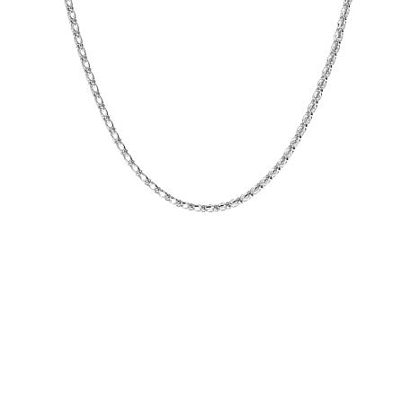 "Absolute™ 16"" Sterling Silver Cubic Zirconia Caged Tennis Necklace"