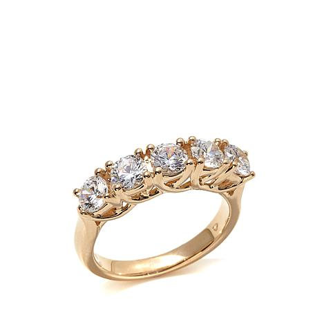 Absolute™ 1.75ctw Cubic Zirconia 5-Stone 14K Gold Ring