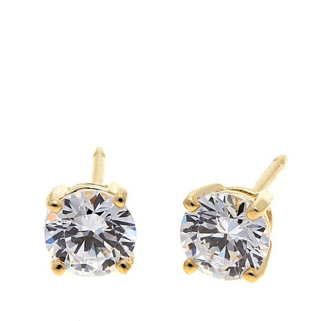 Absolute™ 1ctw Cubic Zirconia Round Stud Earrings