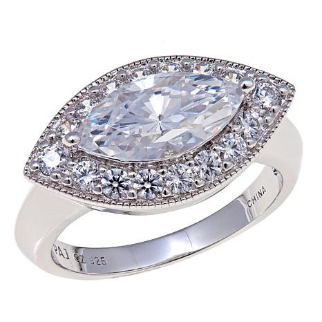 Absolute™ 2.48ctw Cubic Zirconia East-West Ring