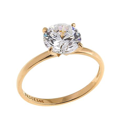 Absolute™ 2ctw CZ 14K Round Solitaire Ring