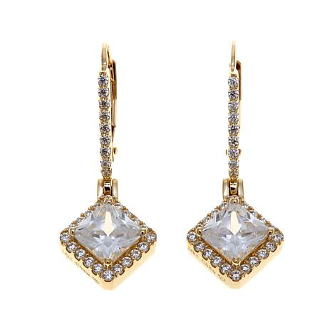 Absolute™ 3.08ctw Cubic Zirconia 14K Drop Earrings