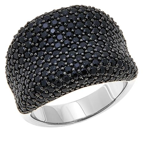 Absolute™ 3.37ctw Black Cubic Zirconia Saddle Ring
