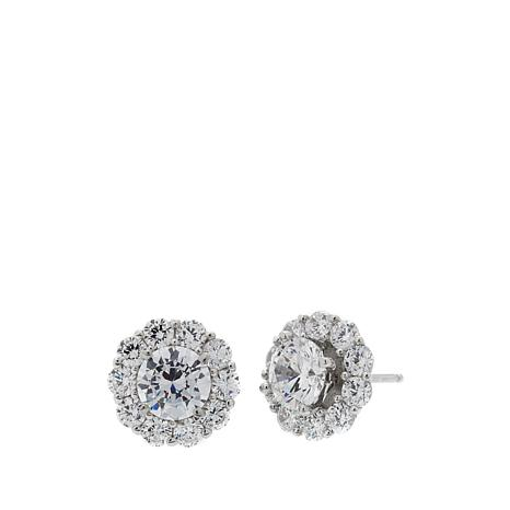 peora carats cushion sterling cubic silver earrings zirconia cut
