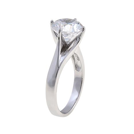 60b47aa902add1 Absolute 3ct Cubic Zirconia Sterling Silver Round Solitaire Ring - 8356420  | HSN
