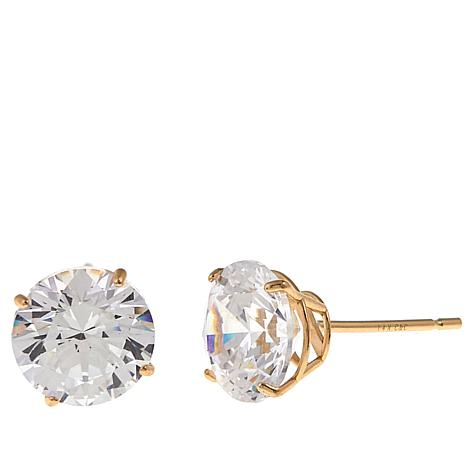 Absolute 3ctw Cz 14k Round Stud Earrings