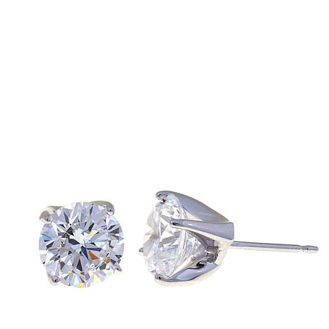Absolute™ 4ctw Cubic Zirconia Round Stud Earrings