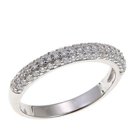 Absolute™ .59ctw Clear Cubic Zirconia  Band Ring