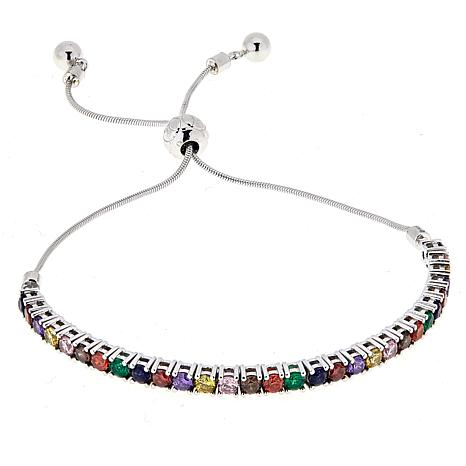 Absolute™ Colors of Simulated Sapphire Rainbow Bracelet
