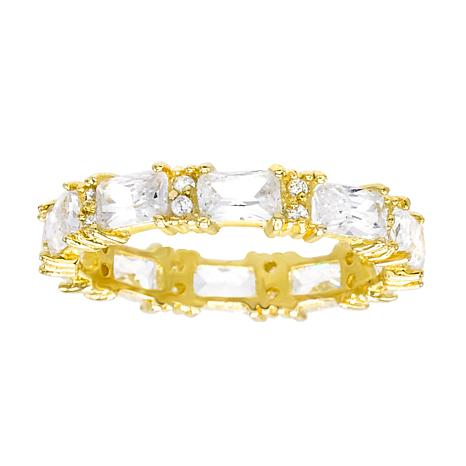 Absolute™ Cubic Zirconia Baguette and Round Eternity Stack Ring
