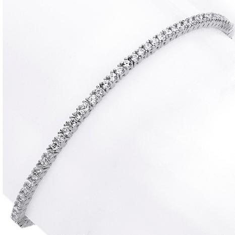 Absolute™ CZ 2mm Round Prong-Set Line Bracelet