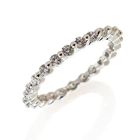 Absolute™ CZ Prong-Set Round Eternity  Ring