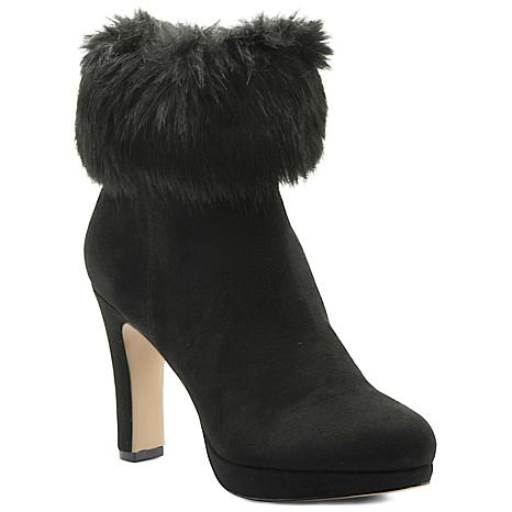 Adrienne Vittadini Kidsuede Peeve Booties with Faux Fur