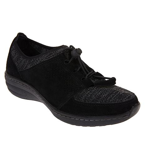 Aetrex® Casey Suede and Stretch Knit Sneaker