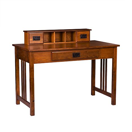 Aledo Desk - Mission Oak Finish