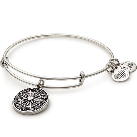 "Alex and Ani ""True Direction"" Charm Expandable Bangle"