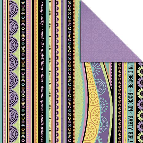 Allsorts Double-Sided Paper 12X12 - Passionfruit