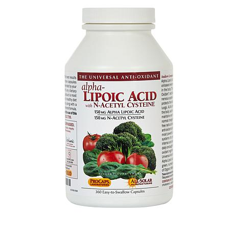Alpha Lipoic Acid with N-Acetyl Cysteine - 360 Capsules