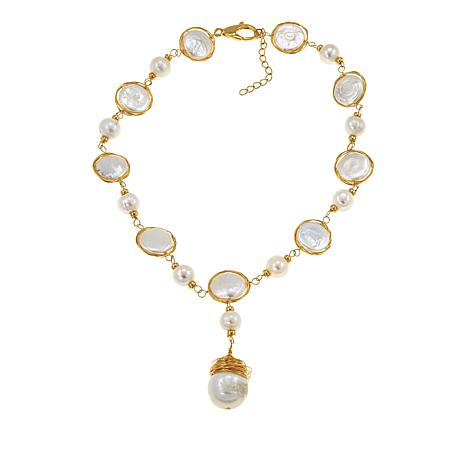 Amara Jewelry Collection 9-16mm Cultured Pearl Drop Necklace