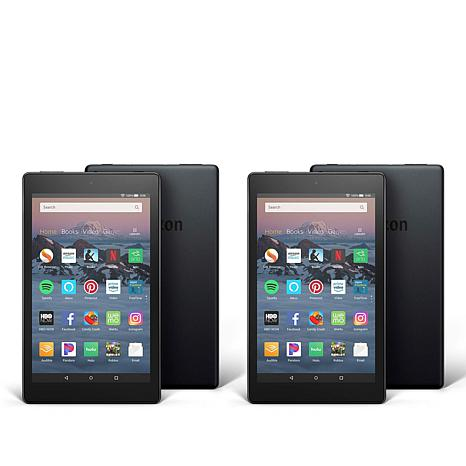 """Amazon Fire HD 8"""" 16GB Tablet 2-pack with Custom Case Vouchers"""