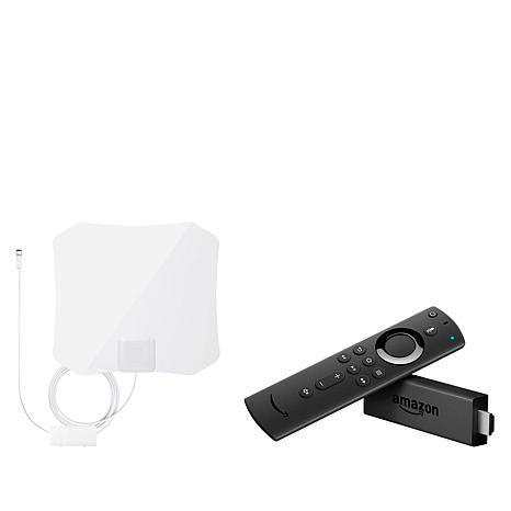 Amazon Fire TV Stick Media Streamer with ANTOP 45-Mile TV Antenna