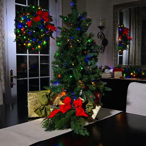 """American Tree & Wreath 36"""" Color-Changing Tree with Remote"""
