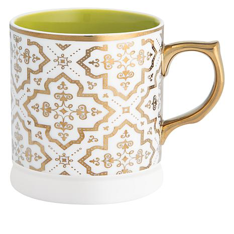 Ana Davis 4-count of 12 oz. Shimmer Ceramic Mugs