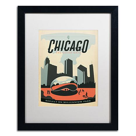"Anderson Design Group ""Chicago Cloud Gate"" Framed Art"