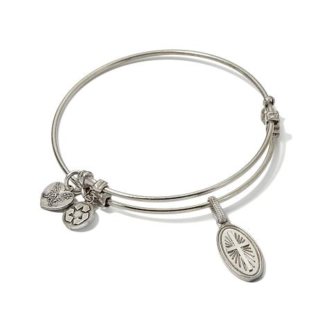 "Angelica Cross Charm 7"" Slide-Clasp Bangle Bracelet"