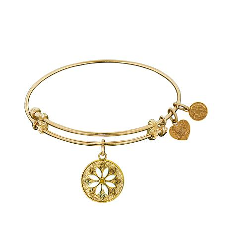 Angelica Daisy Dangle Wire Expansion Bangle Bracelet